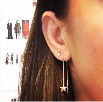 - Uzun Zincirden Sallantılı Yıldız Küpe