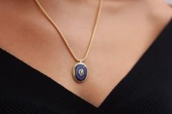 REİS - Lapis Taşı Madalyon ve Hasır Zincir