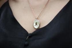 REİS - Sedef Madalyon Kolye
