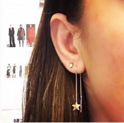 REİS - Uzun Zincirden Sallantılı Yıldız Küpe